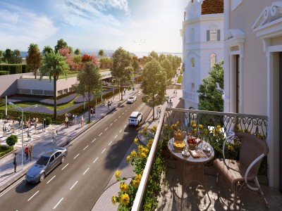 Ra mắt dãy shophouse nằm bên cạnh quảng trường lớn nhất miền Bắc