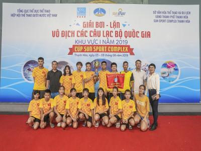 Đoàn Quảng Ninh giành giải Nhất giải bơi lặn vô địch các CLB quốc gia khu vực 1 Cúp Sun Sport Comple