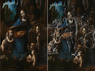 Phát hiện các bức vẽ của Leonardo da Vinci bên dưới bức tranh 'The Virgin Of The Rocks'