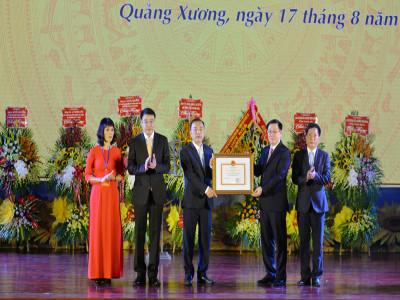 Huyện Quảng Xương- Thanh Hóa: Đón nhận   quyết định đạt chuẩn nông thôn mới
