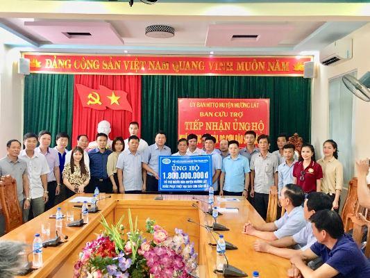 Thanh Hóa: Hiệp hội Doanh nghiệp tỉnh ủng hộ 1,8 tỷ đồng cho huyện Mường Lát
