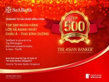 Ngân hàng TMCP Đông Nam Á (SeABank) lọt TOP 500 ngân hàng lớn và mạnh nhất châu Á – Thái Bình Dương
