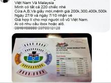 Giật mình với giá vé xem trận đấu giữa đội tuyển Việt Nam gặp Malaysia vòng loại WC 2022