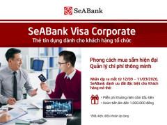 Thẻ SeABank Visa Corporate - Siêu tiện lợi cho doanh nghiệp khi sử dụng.