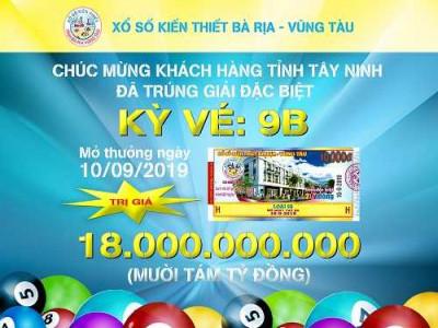 Xổ số kiến thiết Bà Rịa - Vũng Tàu: Hơn 1.6000 tỷ đồng chi trả thưởng.