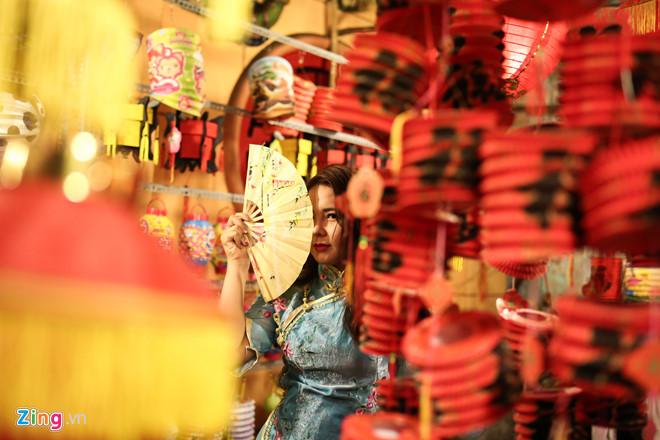 Phố đèn lồng ở Sài Gòn