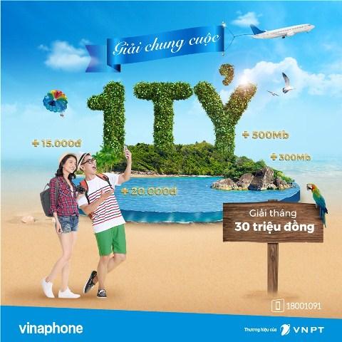 Hàng ngàn giải thưởng hấp dẫn dành tặng khách hàng VinaPhone