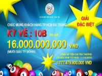 Công ty TNHH MTV Xổ số Kiến thiết Bà Rịa - Vũng Tàu: Chi trả thưởng hơn 1.777 tỷ đồng