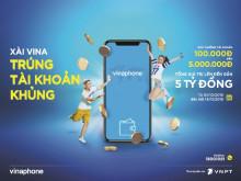 """Hàng nghìn giải thưởng """"khủng""""cho thuê bao trả trước VinaPhone"""