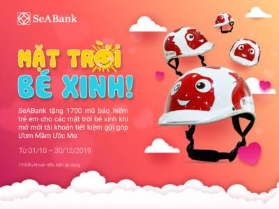 SeABank tặng 1.700 mũ bảo hiểm xinh xắn cho mặt trời bé con