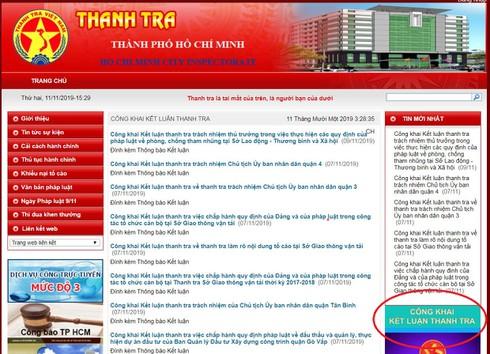 TP.HCM: Người dân đã có thể xem toàn bộ kết luận thanh tra trên website