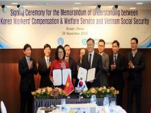 BHXH Việt Nam ký kết Bản ghi nhớ hợp tác với Cơ quan Phúc lợi và đền bù cho người lao động Hàn Quốc