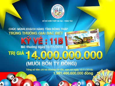 Công ty TNHH MTV xổ số Kiến thiết Bà Rịa – Vũng Tàu Gần 2.000 tỉ đồng chi trả thưởng