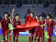 Khoảnh khắc tuyển nữ Việt Nam bảo vệ thành công HCV SEA Games