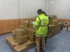 Quảng Ninh: Đội CSGT số 2 bắt giữ vụ vận chuyển thực phẩm không đảm bảo VSATTP