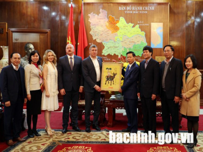 Đoàn công tác Cộng hòa Mordovia (Liên bang Nga) thăm và làm việc tại Bắc Ninh