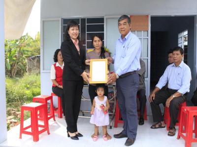 Công ty TNHH MTV XSKT Bà Rịa Vũng Tàu trao tặng nhà cho các hộ nghèo