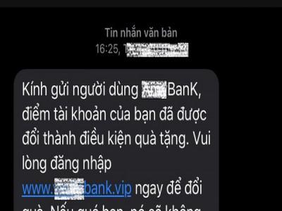 Bộ Công an cảnh báo tin nhắn giả mạo ngân hàng để lừa chiếm đoạt tiền trong tài khoản