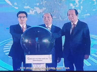 Khai trương  cổng dịch vụ công Quốc Gia- trực tuyến  cầu  tại Quảng Ninh