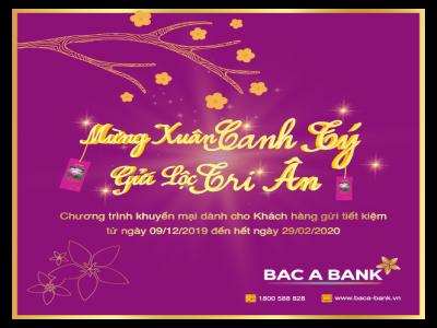 Mừng Xuân Canh Tý, BAC A BANK gửi lộc tri ân khách hàng gửi tiền