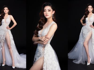 Trước giờ G, Hoa hậu Lương Thùy Linh tung 2 mẫu đầm dạ hội đẹp đến mê hoặc cho đêm chung kết