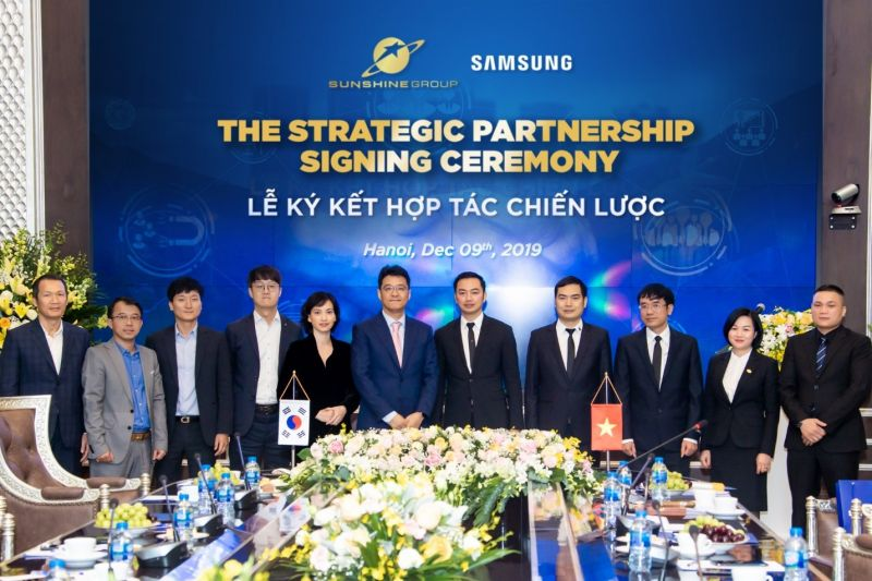 """Sunshine Group """"bắt tay"""" Samsung, hiện thực hóa khát vọng nâng tầm bất động sản Việt Nam"""