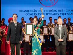 Doanh nhân Chu Thị Hồng Huệ vinh dự nhận giải thưởng lớn dịp đầu năm