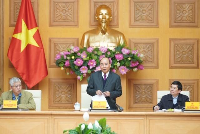 Thủ tướng Chính phủ Nguyễn Xuân Phúc làm việc với Tổ tư vấn kinh tế