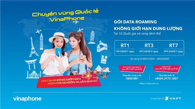 Online cả nghìn GB tại nước ngoài, thuê bao VinaPhone cũng chỉ tốn 199.000đ