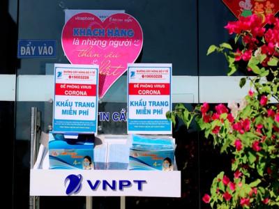 VNPT phát khẩu trang miễn phí phòng chống dịch virus nCoV
