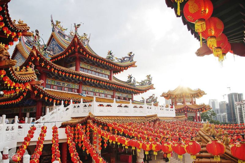 Cận cảnh ngôi chùa Thiên Hậu lớn nhất Đông Nam Á