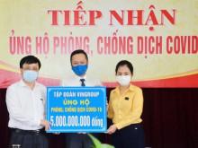 Tập đoàn Vingroup ủng hộ Nghệ An 5 tỷ đồng phòng, chống dịch Covid – 19