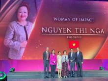 Doanh nhân Nguyễn Thị Nga được vinh danh Nữ doanh nhân có tầm ảnh hưởng lớn khu vực  ASEAN