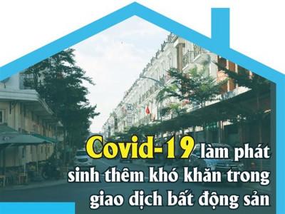 Covid-19 làm phát sinh thêm khó khăn trong giao dịch bất động sản