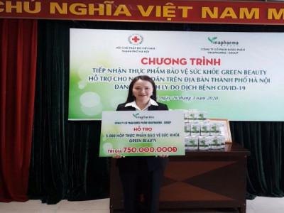 Tập đoàn Vinapharma Group – nhãn hàng Green Beauty tài trợ 5000 sản phẩm tới người dân TP. Hà Nội