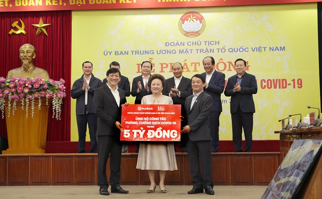 Ngân hàng TMCP Đông Nam Á và Tập đoàn BRG chung tay hỗ trợ phòng, chống dịch Covid -19