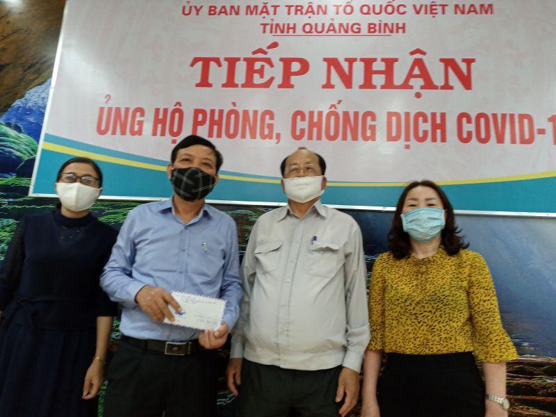 Ban LL Hội tình nghĩa ngành Vật tư Xăng dầu Quảng Bình chung tay phòng chống dịch Covid - 19