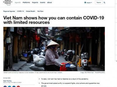 """Dư luận quốc tế: Việt Nam - """"Ngọn hải đăng"""" trong kiểm soát dịch Covid-19"""