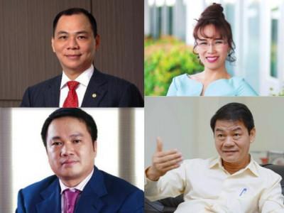 Công bố top siêu giàu thế giới: Việt Nam có 4 tỷ phú USD