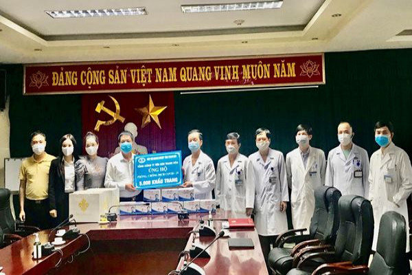 Thanh Hóa: Doanh nghiệp, doanh nhân ủng hộ khẩu trang, buồng khử khuẩn cho các bệnh viện