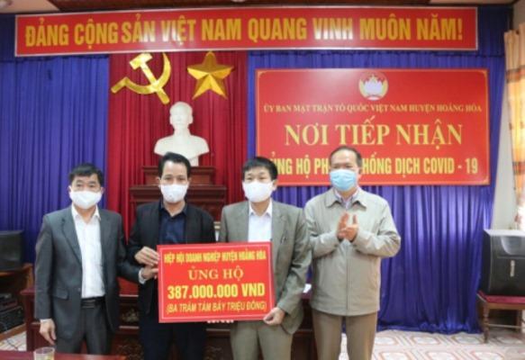 Hiệp hội Doanh nghiệp Hoằng Hóa (Thanh Hóa): Ủng hộ gần 400 triệu đồng phòng, chống dịch Covid -19