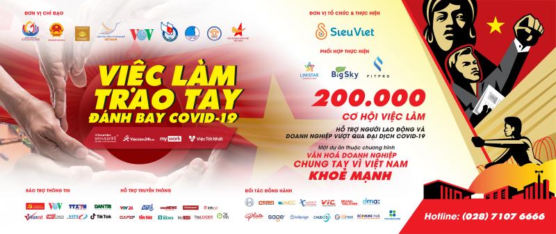 200.000 cơ hội việc làm hỗ trợ người lao động và doanh nghiệp vượt qua đại dịch Covid-19