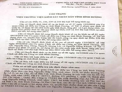 Bình Dương: Chưa đủ căn cứ buộc tội bị cáo Nguyễn Hồng Khanh