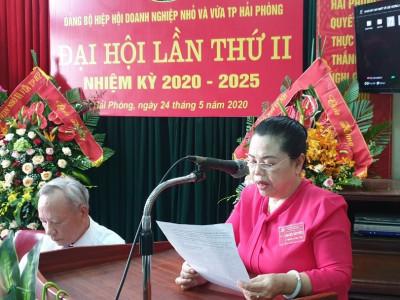 Đảng bộ Hiệp hội DNNVV TP Hải Phòng Đại hội lần thứ II nhiệm kỳ 2020 – 2025