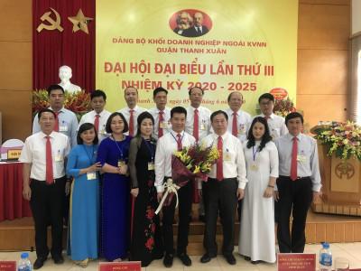 Đại hội đại biểu Đảng bộ Khối Doanh nghiệp ngoài KVNN Quận Thanh Xuân lần thứ III
