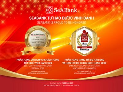 Dịch vụ khách hàng của SeABank được nhiều tổ chức quốc tế vinh danh