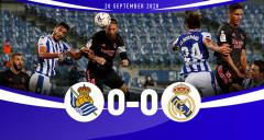 Real Sociedad 0-0 Real Madrid: Benzema bất lực, Real Madrid chia điểm ở xứ Basque