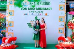 Diễn viên Ngân Quỳnh dự khai trương siêu thị thứ 3 - chuỗi hệ thống Minimart Bốn Mùa