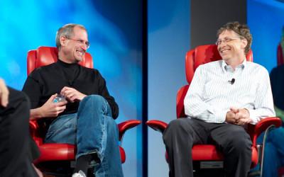 Steve Jobs và Bill Gates: Những tỷ phú thành công nhờ