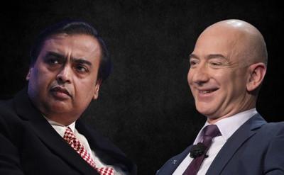 Tỉ phú Mukesh Ambani và Jeff Bezos chung tay thống lĩnh thị trường bán lẻ Ấn Độ